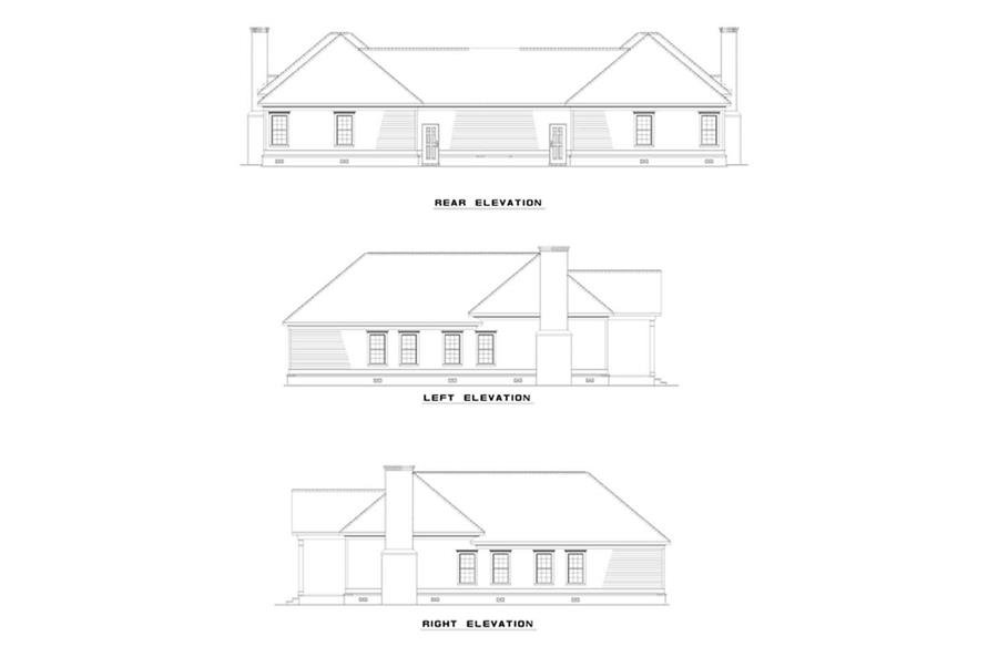 Home Plan Rear Elevation of this 6-Bedroom,1404 Sq Ft Plan -153-1223