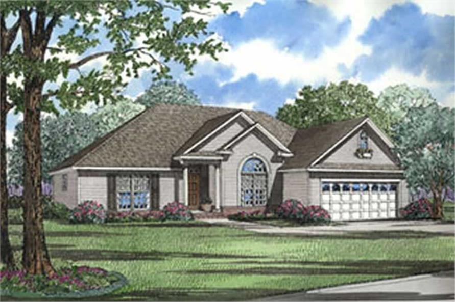 3-Bedroom, 1722 Sq Ft European Home Plan - 153-1227 - Main Exterior