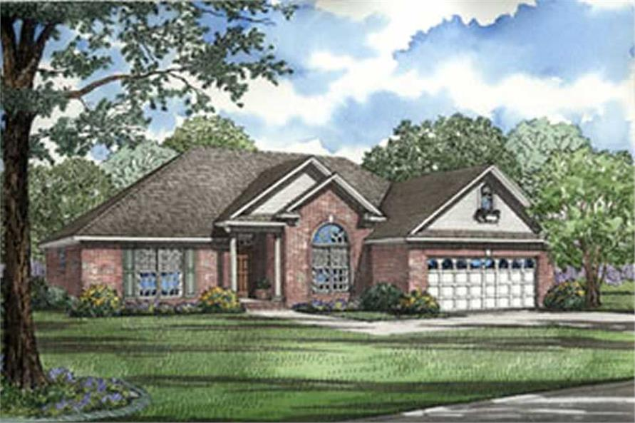 3-Bedroom, 1722 Sq Ft European House Plan - 153-1228 - Front Exterior