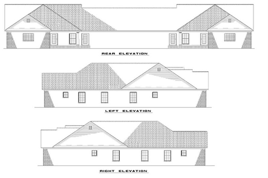 Home Plan Rear Elevation of this 6-Bedroom,1452 Sq Ft Plan -153-1229