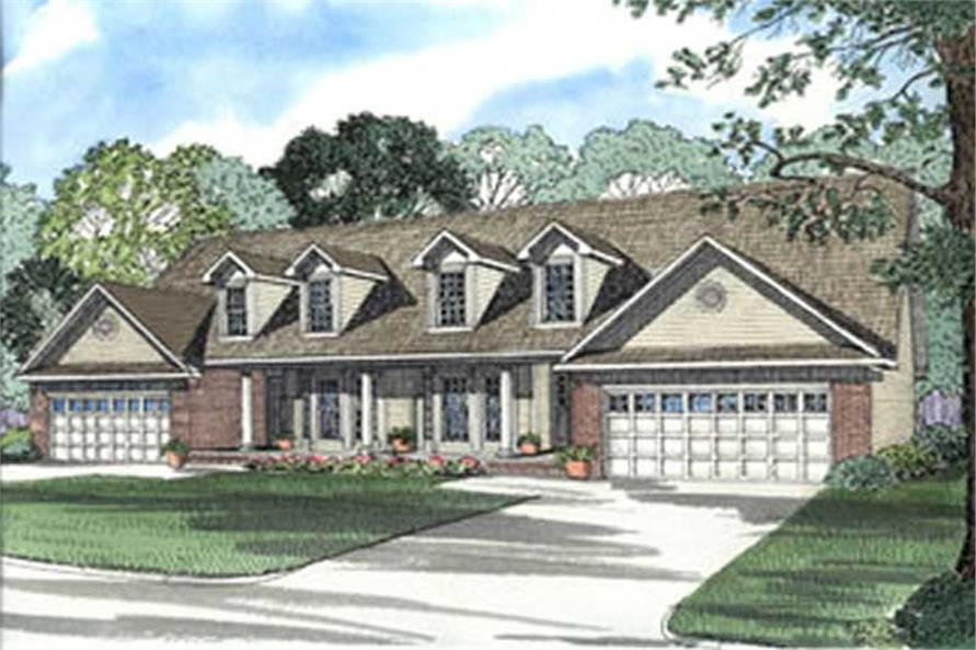6-Bedroom, 1897 Sq Ft Multi-Unit Home Plan - 153-1232 - Main Exterior