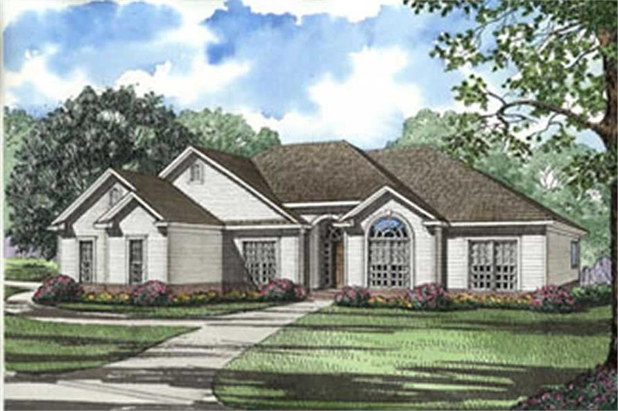 4-Bedroom, 1989 Sq Ft Southern House Plan - 153-1233 - Front Exterior