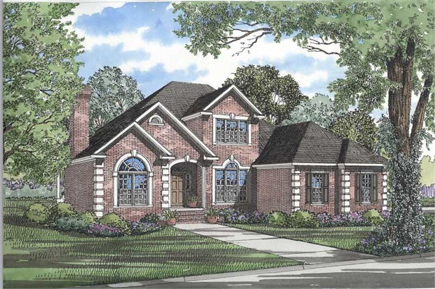 4-Bedroom, 2784 Sq Ft French Home Plan - 153-1234 - Main Exterior