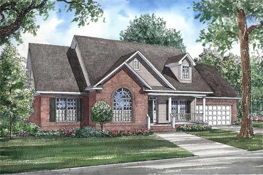 3-Bedroom, 1957 Sq Ft Southern Home Plan - 153-1235 - Main Exterior