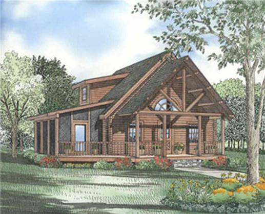 Log Cabins Colored Rendering.