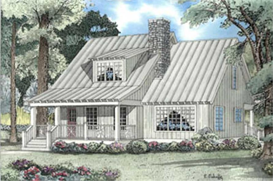 2-Bedroom, 1542 Sq Ft Small House Plans - 153-1240 - Main Exterior