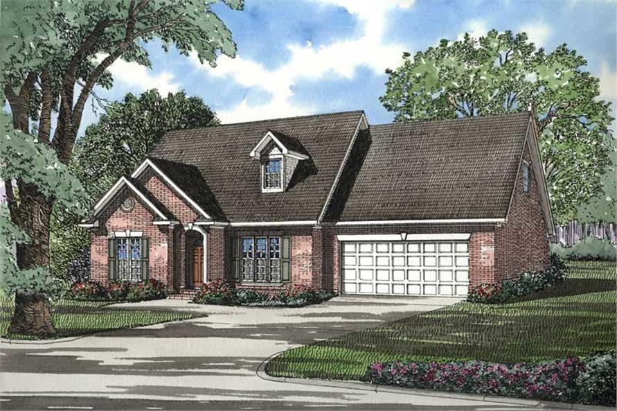 3-Bedroom, 1697 Sq Ft French Home Plan - 153-1242 - Main Exterior