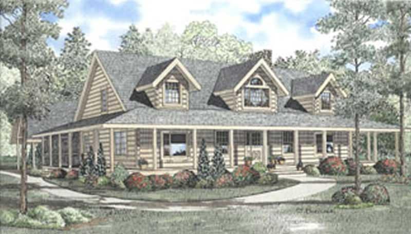 Log Home Plans - House Plan # 153-1244