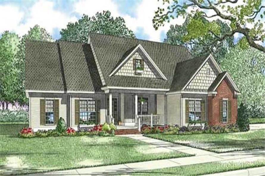 4-Bedroom, 2783 Sq Ft Country Home Plan - 153-1246 - Main Exterior