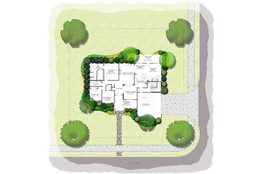 Home Plan Aux Image of this 3-Bedroom,2029 Sq Ft Plan -153-1247