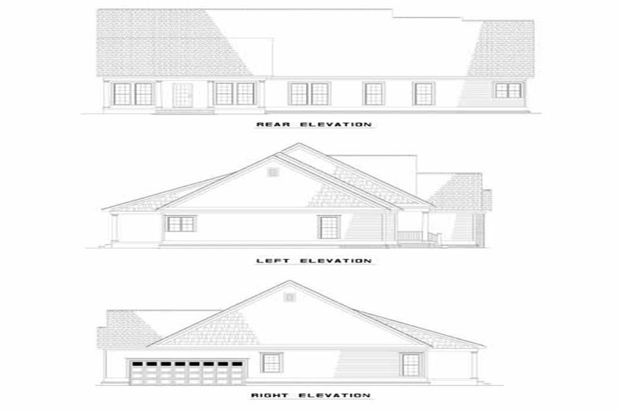 Home Plan Left Elevation of this 3-Bedroom,2029 Sq Ft Plan -153-1247