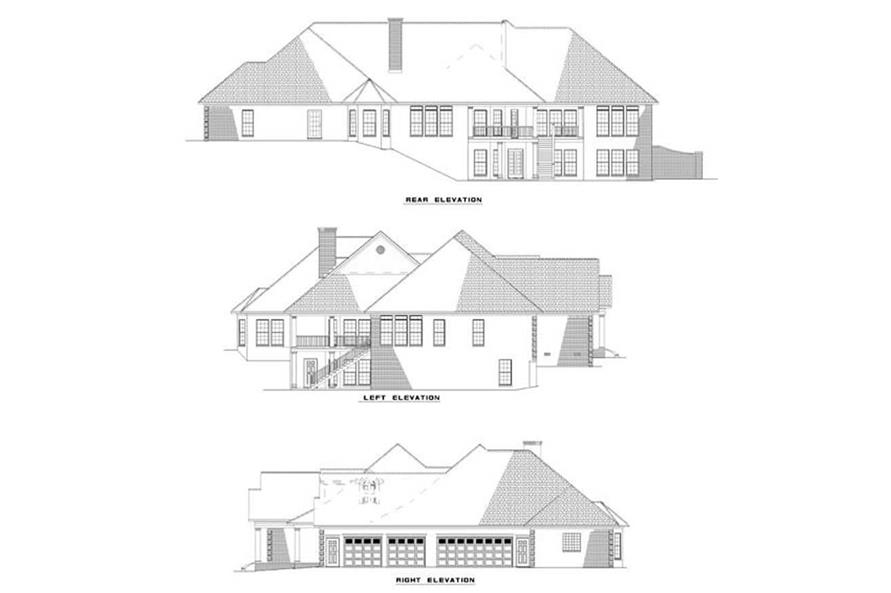 EXTERIOR ELEVTIONS of this 5-Bedroom,5724 Sq Ft Plan -5724