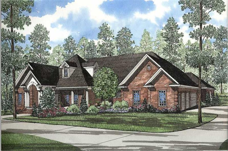 153 1250 this image shows the front elevation for these traditional house plans - Traditional House Plans
