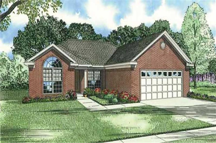 3-Bedroom, 1485 Sq Ft Ranch Home Plan - 153-1251 - Main Exterior