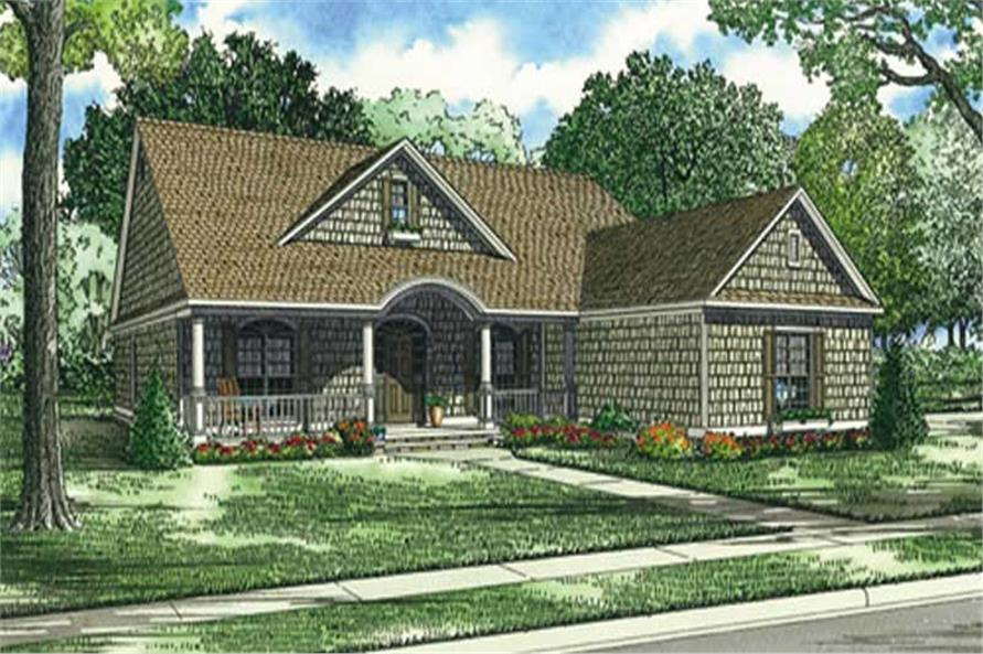 4-Bedroom, 2286 Sq Ft European Home Plan - 153-1252 - Main Exterior