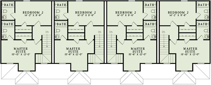 how to frame a mirror in bathroom multi unit house plans home plan 153 1253 the plan 26092