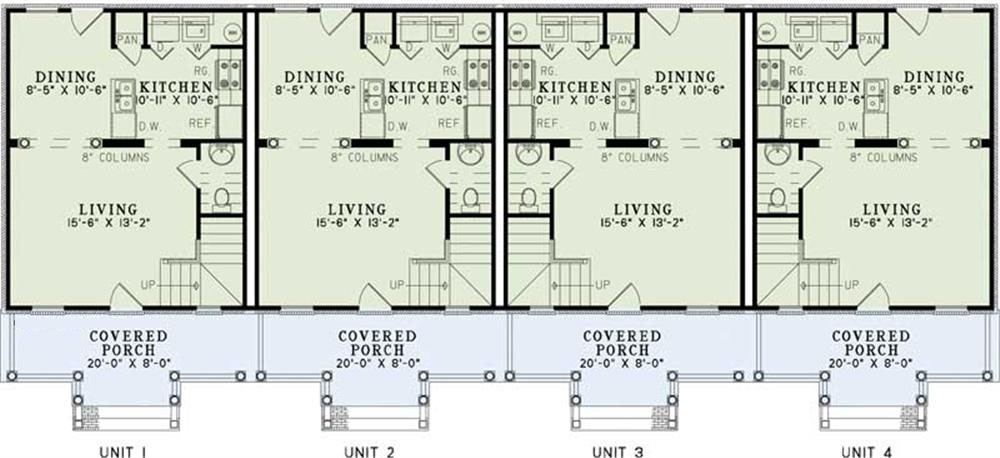 Multi unit house plans home plan 153 1253 the plan for Multi unit apartment plans