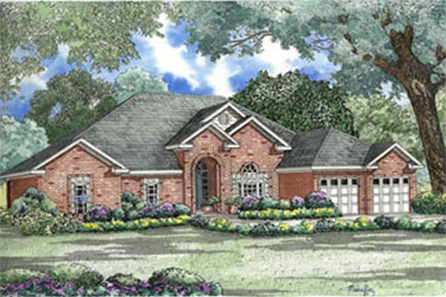 4-Bedroom, 2554 Sq Ft French Home Plan - 153-1255 - Main Exterior