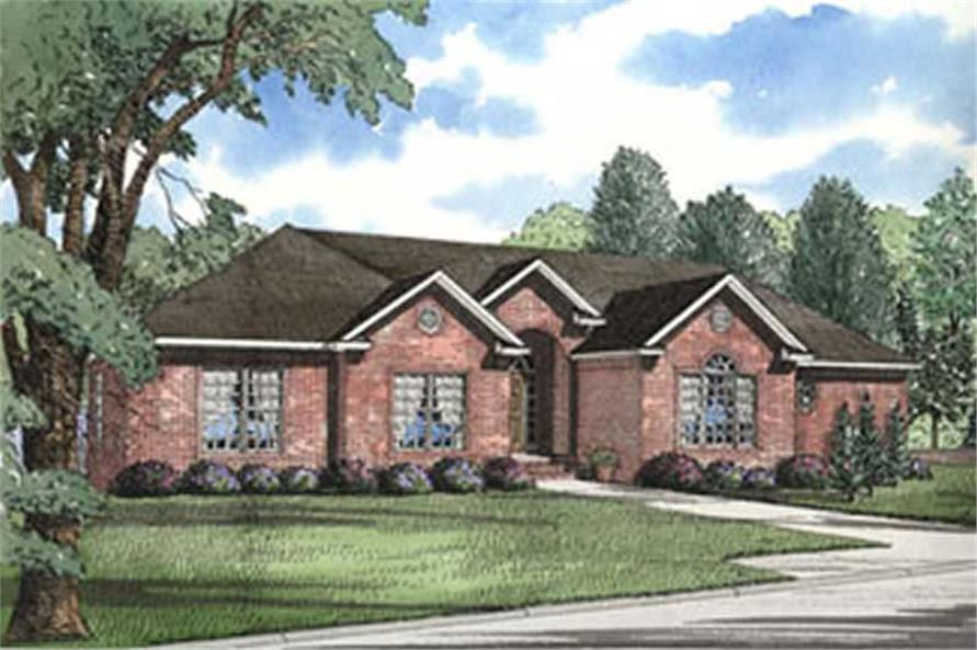 4-Bedroom, 2005 Sq Ft French Home Plan - 153-1256 - Main Exterior