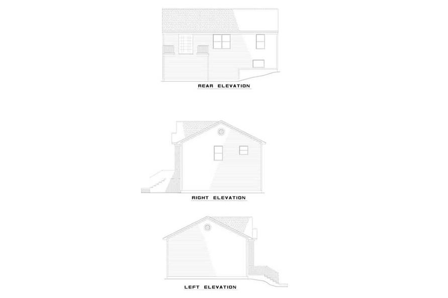 EXTERIOR ELEVATIONS of this 4-Bedroom,1614 Sq Ft Plan -1614