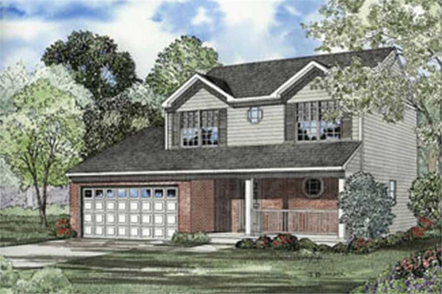 3-Bedroom, 1598 Sq Ft Country House Plan - 153-1260 - Front Exterior