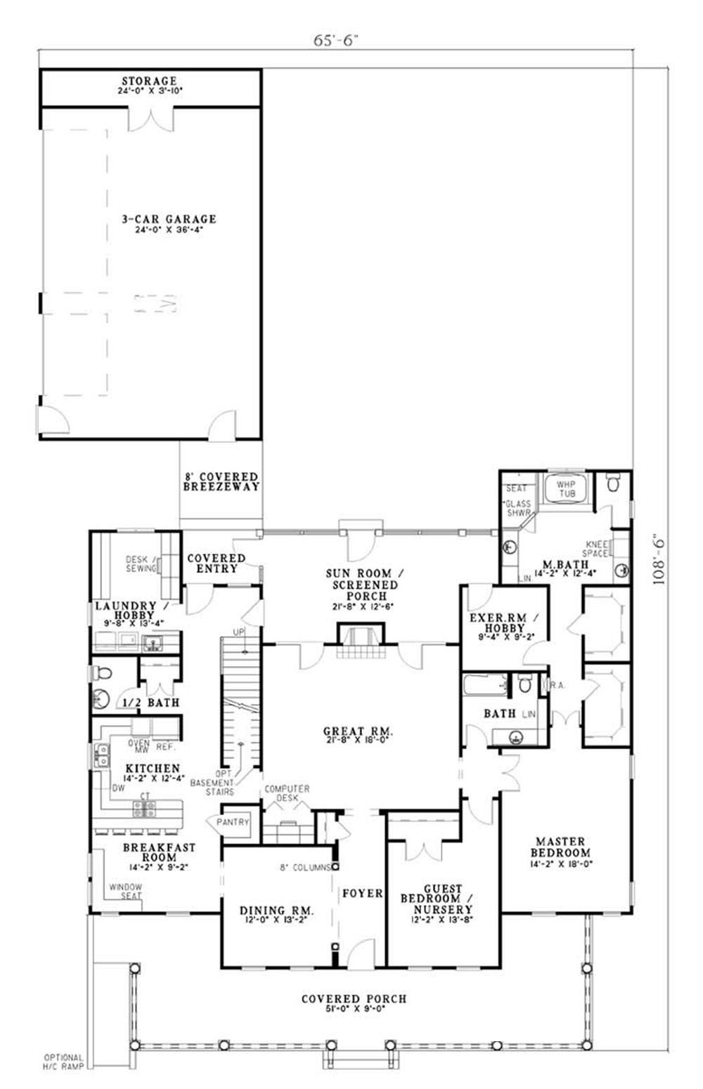 Traditional Colonial Country House Plans Home Design