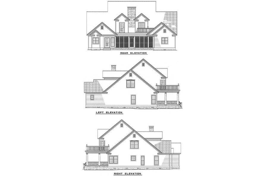Additional Elevations of this 4-Bedroom,3820 Sq Ft Plan -3820
