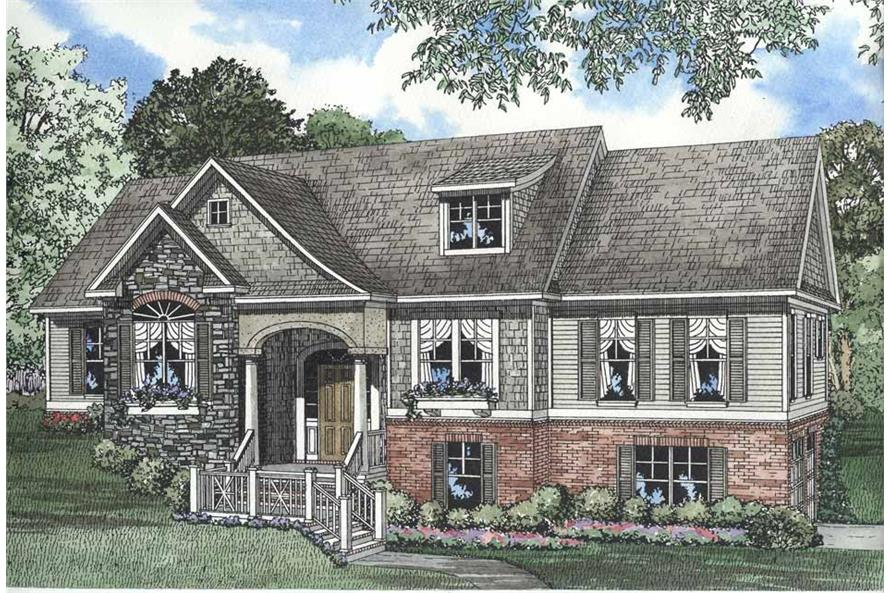 4-Bedroom, 2495 Sq Ft Southern Home Plan - 153-1262 - Main Exterior