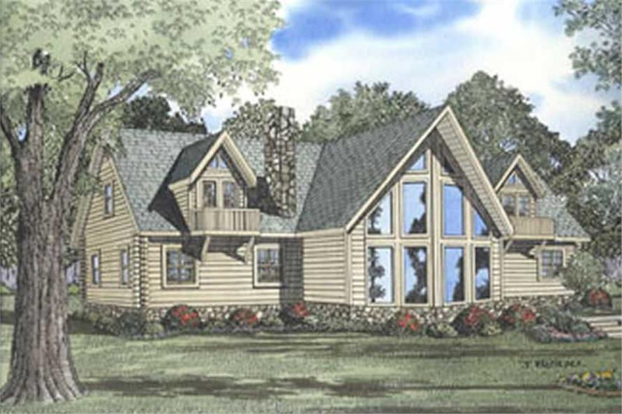 This image shows the different styles for these house plans, namely the Log House Plan style as well as the Vacation House Plans style.