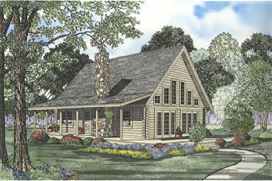 3-Bedroom, 1581 Sq Ft Cape Cod Home Plan - 153-1266 - Main Exterior