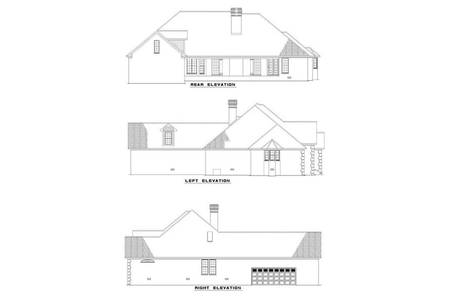 EXTERIOR ELEVATIONS of this 3-Bedroom,2742 Sq Ft Plan -2742