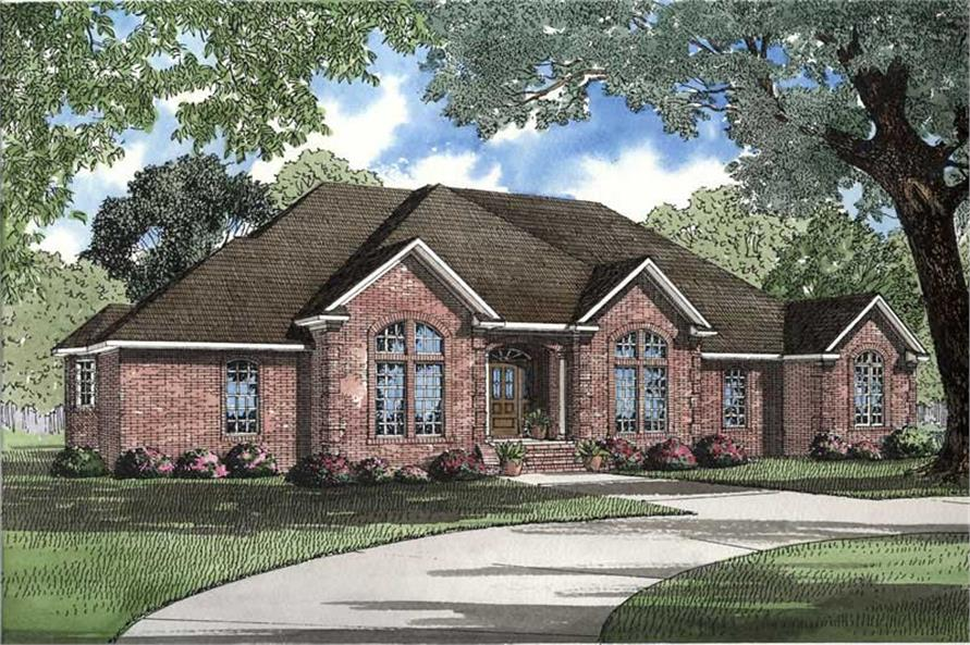 3-Bedroom, 2742 Sq Ft Southern House Plan - 153-1268 - Front Exterior