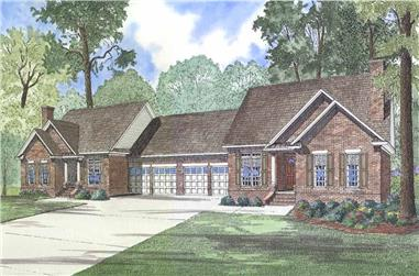 6-Bedroom, 1698 Sq Ft Multi-Unit Home Plan - 153-1269 - Main Exterior