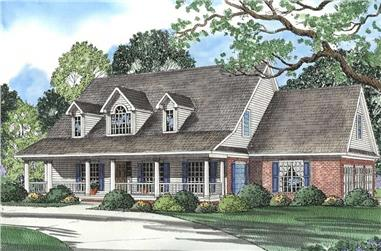 4-Bedroom, 3179 Sq Ft Southern House Plan - 153-1270 - Front Exterior