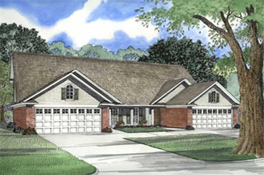 6-Bedroom, 1285 Sq Ft Multi-Unit Home Plan - 153-1271 - Main Exterior
