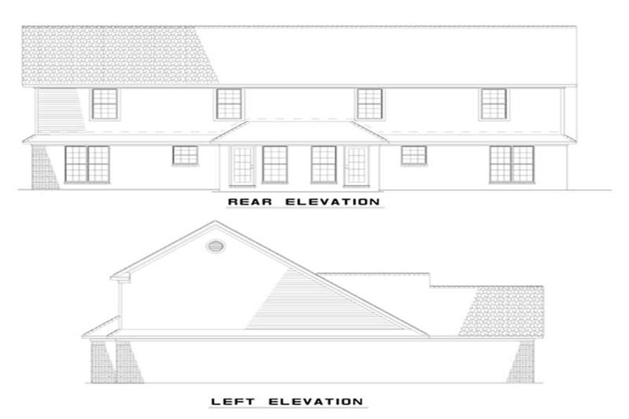 Home Plan Rear Elevation of this 6-Bedroom,1285 Sq Ft Plan -153-1271
