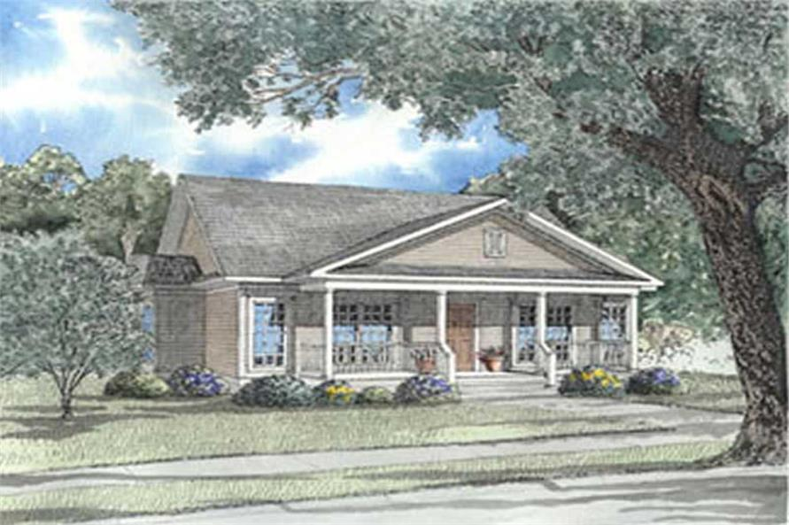 3-Bedroom, 1401 Sq Ft Country Home Plan - 153-1272 - Main Exterior