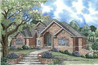 4-Bedroom, 3947 Sq Ft European Home Plan - 153-1273 - Main Exterior