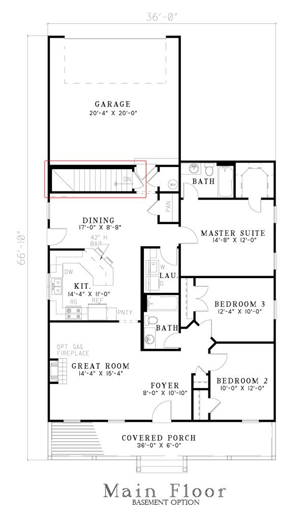 153-1276: Floor Plan Main Level