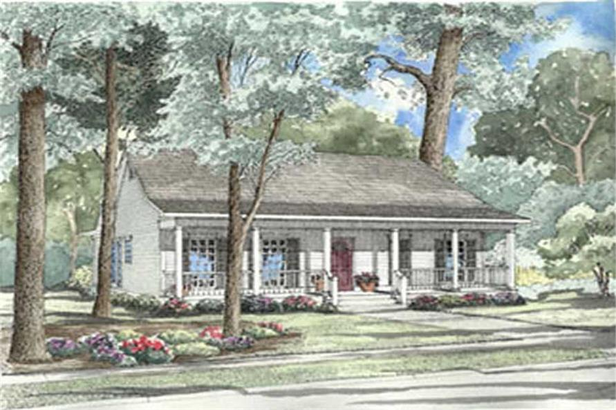 3-Bedroom, 1381 Sq Ft Country Home Plan - 153-1276 - Main Exterior