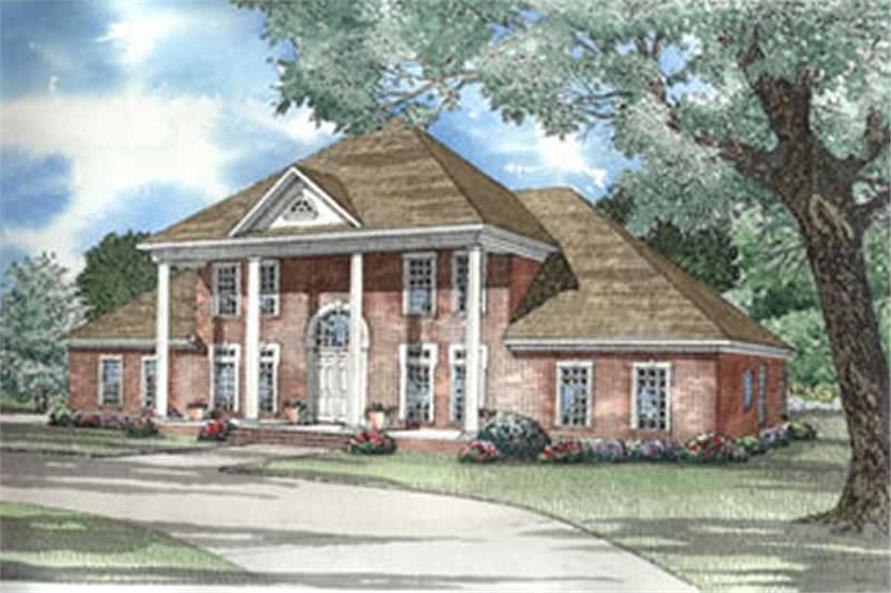 5-Bedroom, 3955 Sq Ft Colonial Home Plan - 153-1277 - Main Exterior