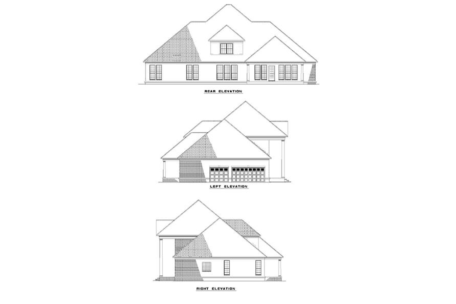 Home Plan Rear Elevation of this 5-Bedroom,3955 Sq Ft Plan -153-1277