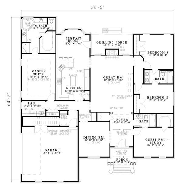 European French House Plans Home Design Ndg 750 5570