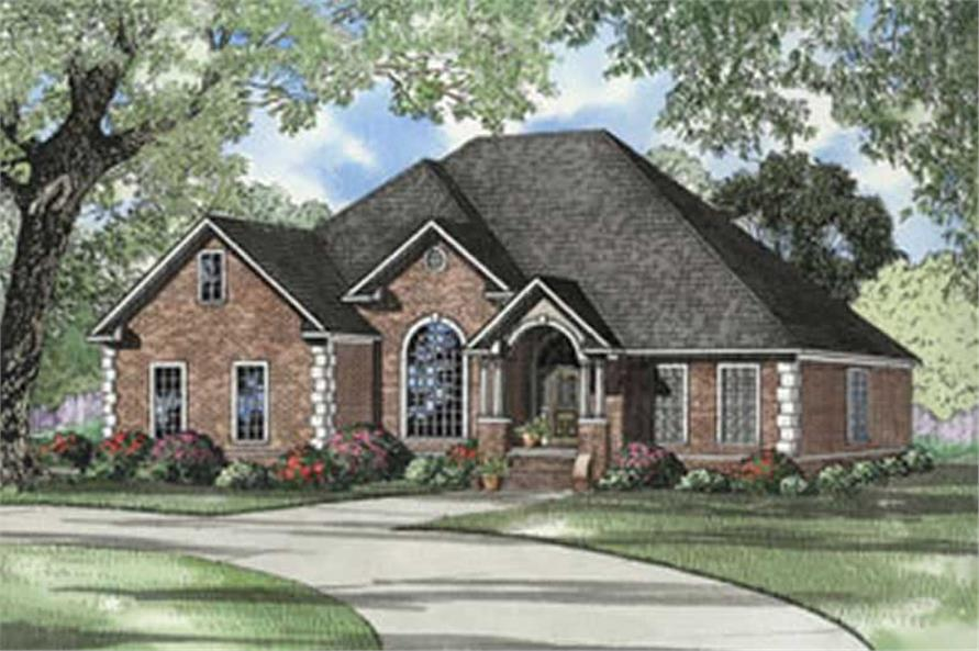 4-Bedroom, 2486 Sq Ft European House Plan - 153-1278 - Front Exterior