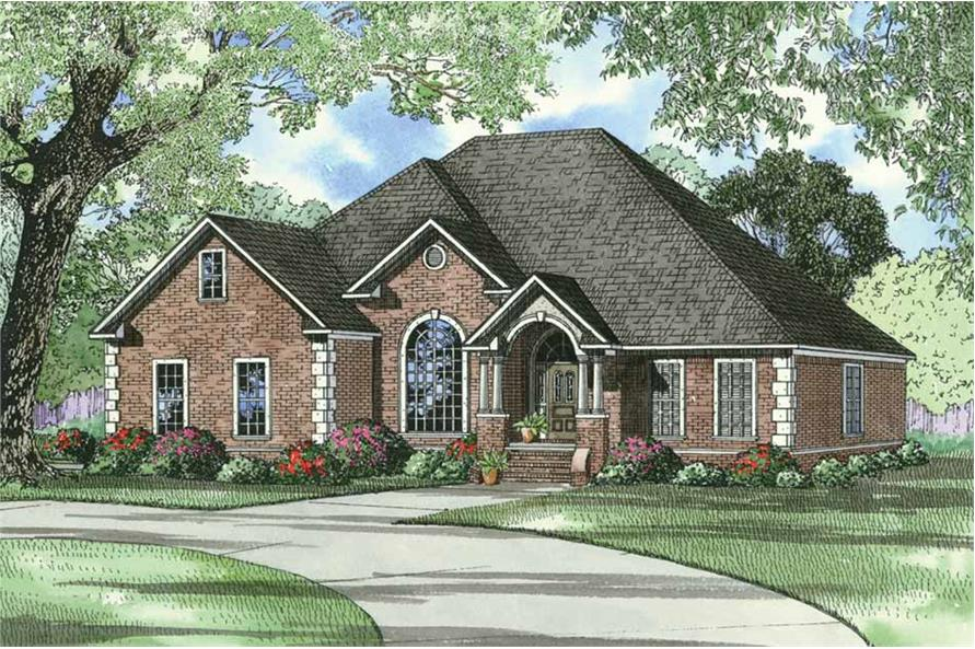 4-Bedroom, 2542 Sq Ft European House Plan - 153-1284 - Front Exterior