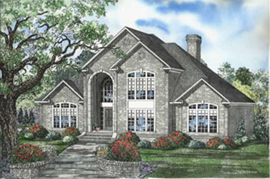 3-Bedroom, 3823 Sq Ft European House Plan - 153-1286 - Front Exterior