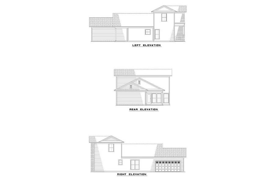 EXTERIOR ELEVATIONS of this 3-Bedroom,1559 Sq Ft Plan -1559