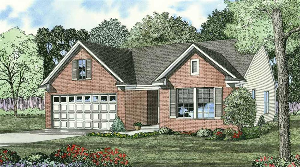 Front elevation of Country home (ThePlanCollection: House Plan #153-1290)