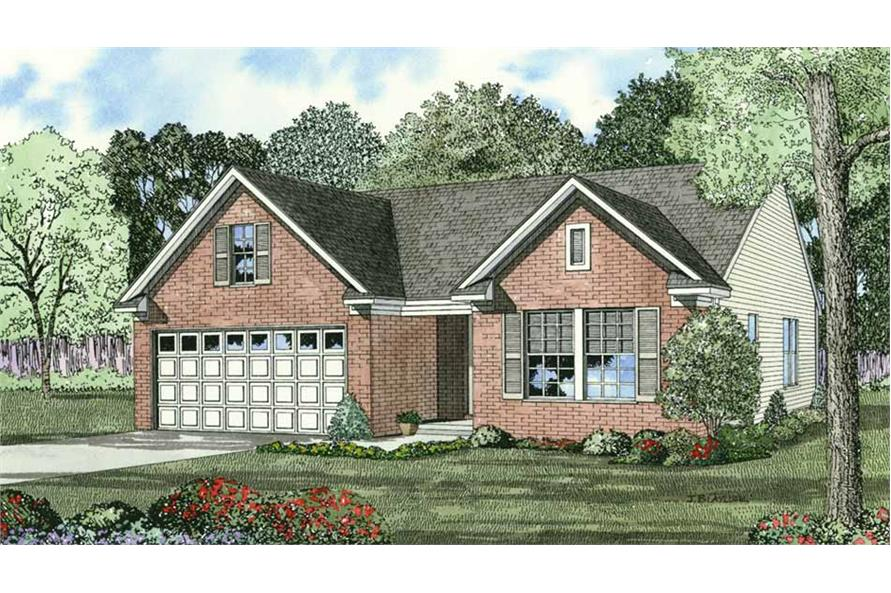 3-Bedroom, 1250 Sq Ft Country House Plan - 153-1290 - Front Exterior