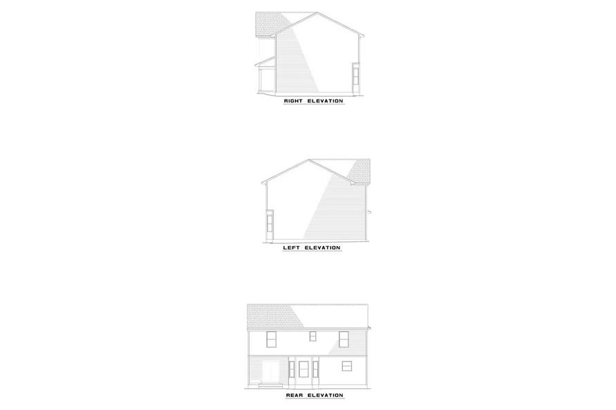 EXTERIOR ELEVATIONS of this 4-Bedroom,1771 Sq Ft Plan -1771